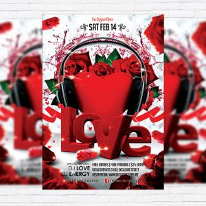 Love Bash - Premium Flyer Template + Facebook Cover