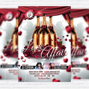 Love Affair - Premium Flyer Template + Facebook Cover