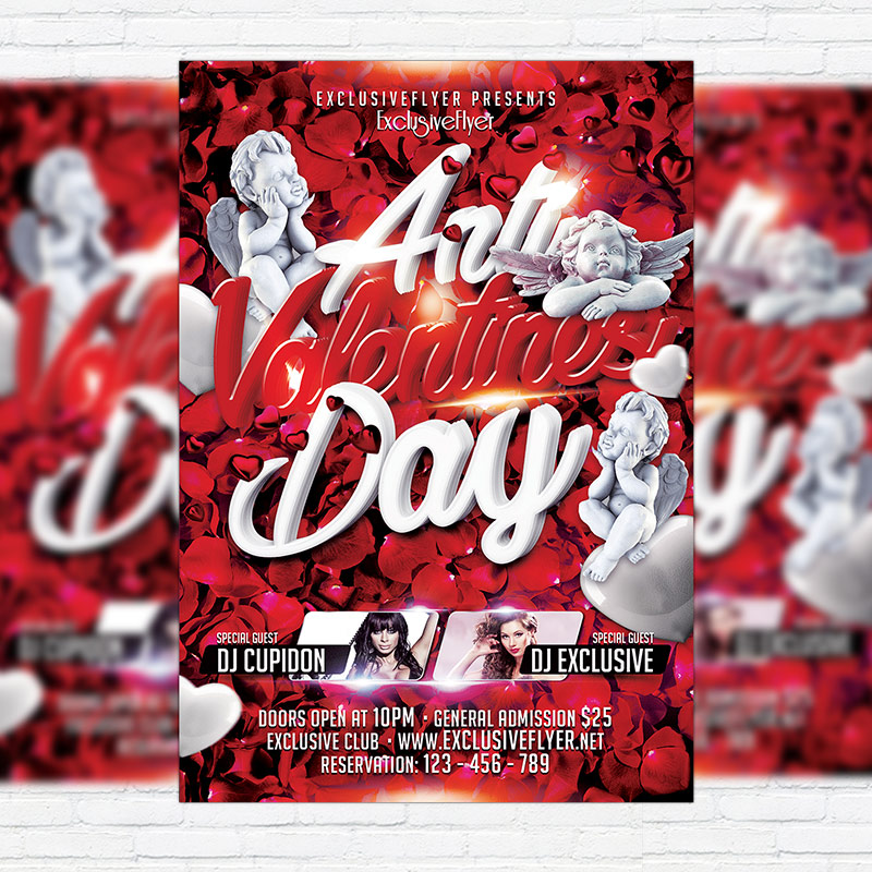 Anti Valentines Day Premium Flyer Template Facebook Cover