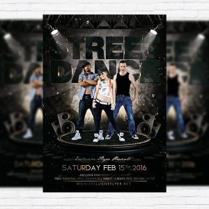 Street Dance - Premium Flyer Template + Facebook Cover