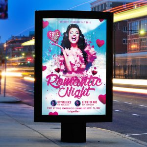 Romantic Night - Premium Flyer Template + Facebook Cover