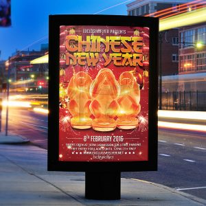 Chinese New Year - Premium Flyer Template + Facebook Cover