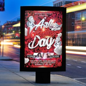 Anti Valentine's Day - Premium Flyer Template + Facebook Cover