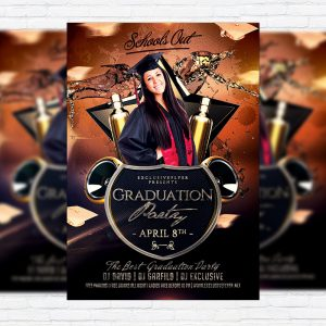Graduation Party - Premium Flyer Template + Facebook Cover