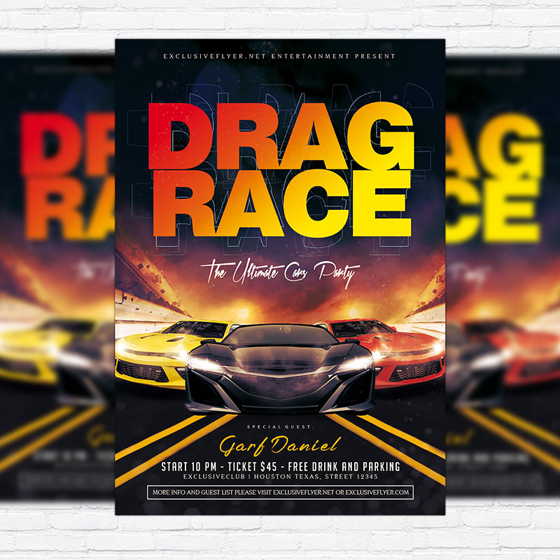 drag race premium flyer template facebook cover exclsiveflyer