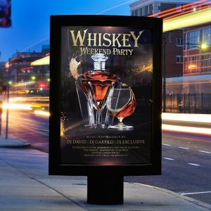 Whiskey Weekend Party - Premium Flyer Template + Facebook Cover