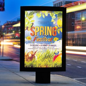 Spring Festival - Premium Flyer Template + Facebook Cover