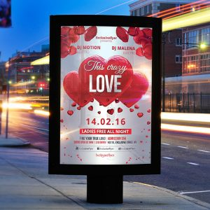 This Crazy Love - Premium Flyer Template + Facebook Cover