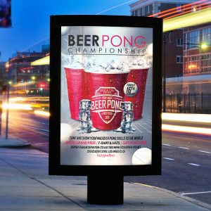 Beer Pong Championship - Premium Flyer Template + Facebook Cover