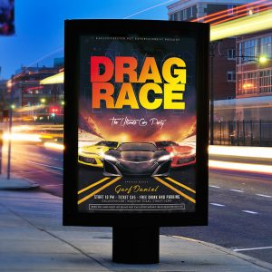 Drag Race - Premium Flyer Template + Facebook Cover