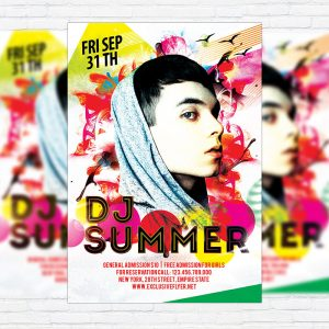 Dj Summer - Premium Flyer Template + Facebook Cover