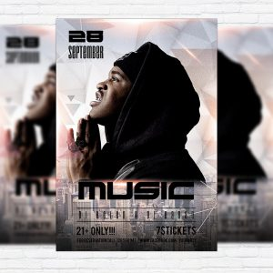 Music Fest - Premium Flyer Template + Facebook Cover