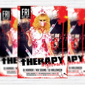 Therapy Nightmares - Premium Flyer Template + Facebook Cover