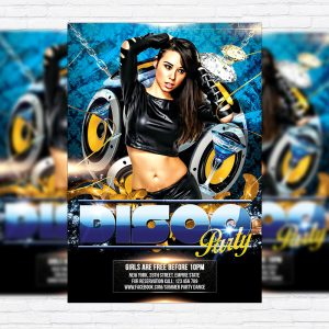 Disco Party - Free Club and Party Flyer PSD Template