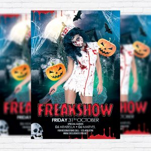 Freak Show - Premium Flyer Template + Facebook Cover