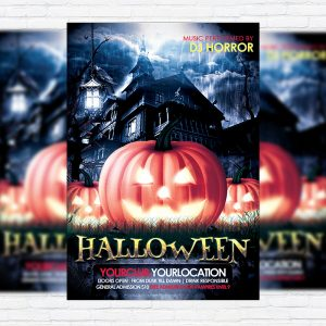 Halloween Night - Premium Flyer Template + Facebook Cover