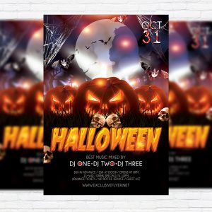 Halloween - Premium Flyer Template + Facebook Cover