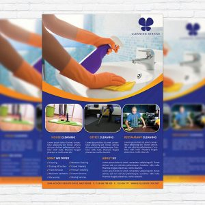 Cleaning Services - Premium Business Flyer PSD Template