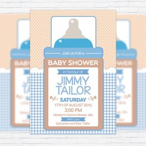 Baby Shower For Boy 2 - Premium Business Flyer PSD Template