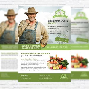 Farmer Flyer - Premium PSD Business Flyer Template