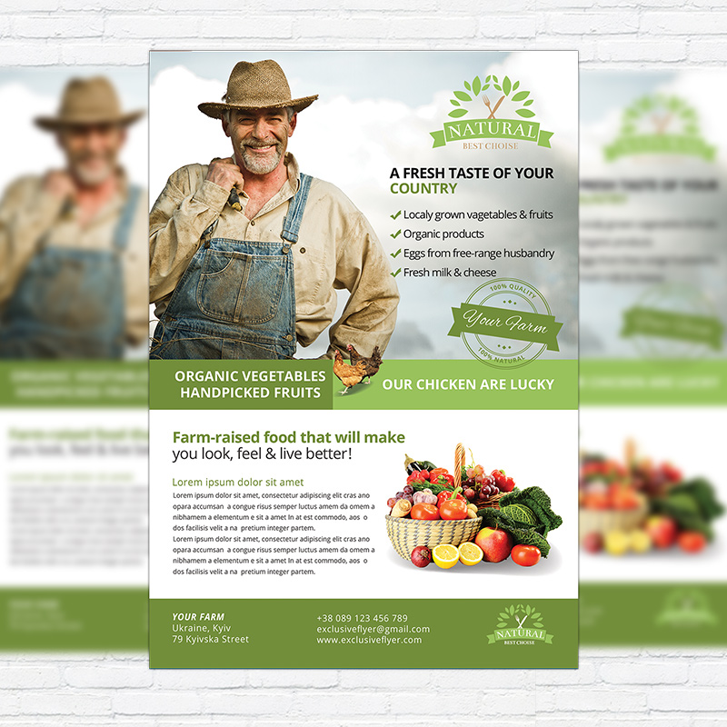 Farmer flyer premium psd business flyer template exclsiveflyer farmer flyer premium psd business flyer template wajeb Choice Image