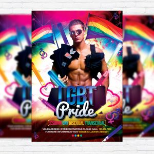 LGBT Pride - Premium Flyer Template + Facebook Cover