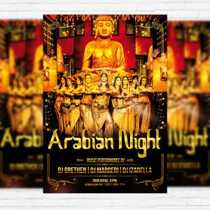 Arabian Night - Premium Flyer Template + Facebook Cover