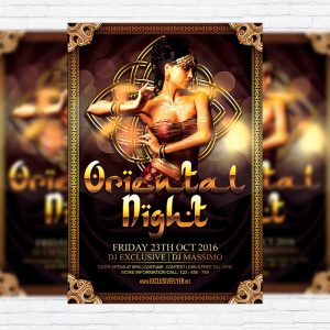Oriental Night Vol.2 - Premium Flyer Template + Facebook Cover