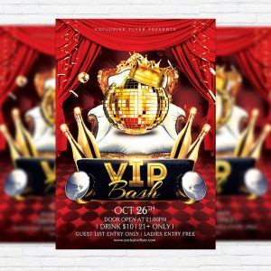 VIP Bash - Premium Flyer Template + Facebook Cover