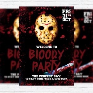 Bloody Party - Premium Flyer Template + Facebook Cover