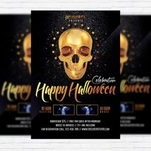 Happy Halloween - Premium Flyer Template + Facebook Cover