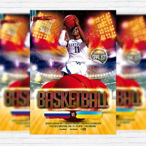 Basketball Game - Premium PSD Flyer Template