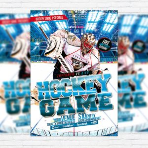 Championship exclsiveflyer free and premium psd templates hockey premium flyer template maxwellsz