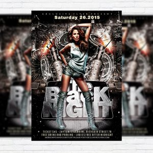 The Black Night - Premium PSD Flyer Template