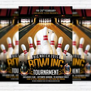 Bowling Tournament - Premium PSD Flyer Template