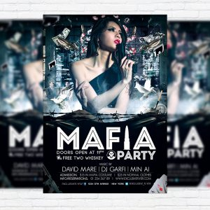 Mafia Party - Premium PSD Flyer Template