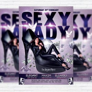 Sexy Lady Night - Premium PSD Flyer Template