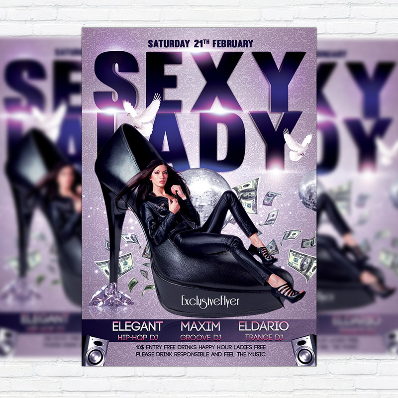 Sexy Lady Night Premium Psd Flyer Template Exclsiveflyer Free
