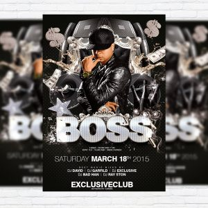Boss Party - Premium PSD Flyer Template