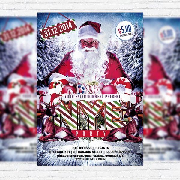 NYE Party / Christmas - Premium PSD Flyer Template