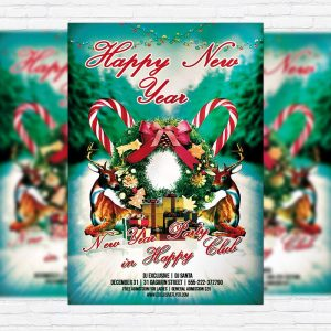 New Year Party - Premium PSD Flyer Template