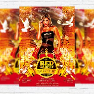 Red Carpet - Premium Flyer Template + Facebook Cover