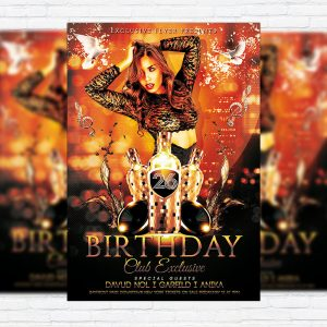 Birthday - Premium Flyer Template + Facebook Cover
