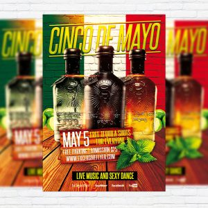Cinco de Mayo - Premium Flyer Template + Facebook Cover