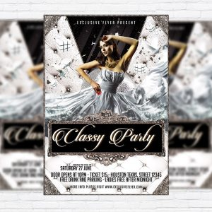 Classy Party - Premium Flyer Template + Facebook Cover