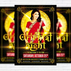 Oriental Night - Premium Flyer Template + Facebook Cover