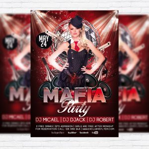Mafia Party - Premium Flyer Template + Facebook Cover