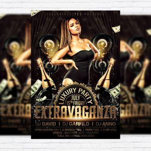 Extravaganza - Premium Flyer Template + Facebook Cover