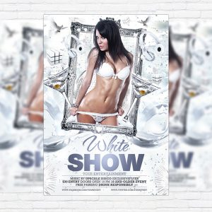 White Show - Premium Flyer Template + Facebook Cover