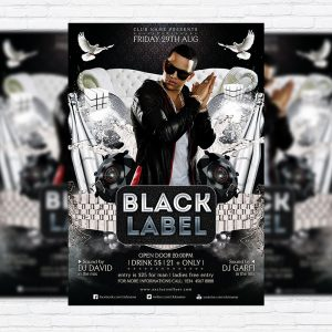 Black Label - Premium Flyer Template + Facebook Cover